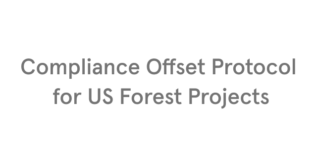 Compliance Offset Protocol for US Forest Projects