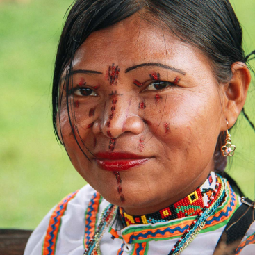 Woman with facepaint